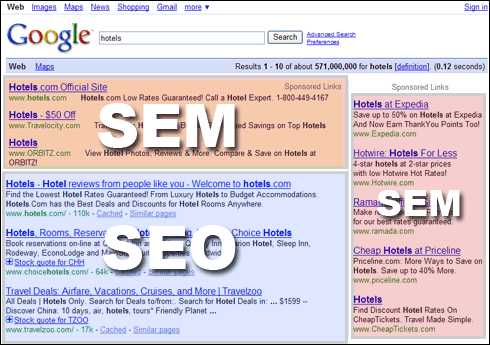 Diferenca entre SEO e SEM no marketing digital